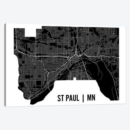 St. Paul Map Canvas Print #MCP71} by Mr. City Printing Canvas Art Print