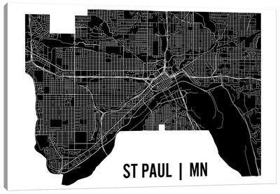 St. Paul Map Canvas Art Print
