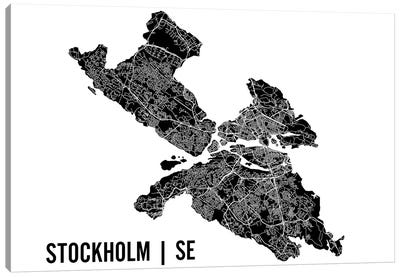 Stockholm Map Canvas Art Print
