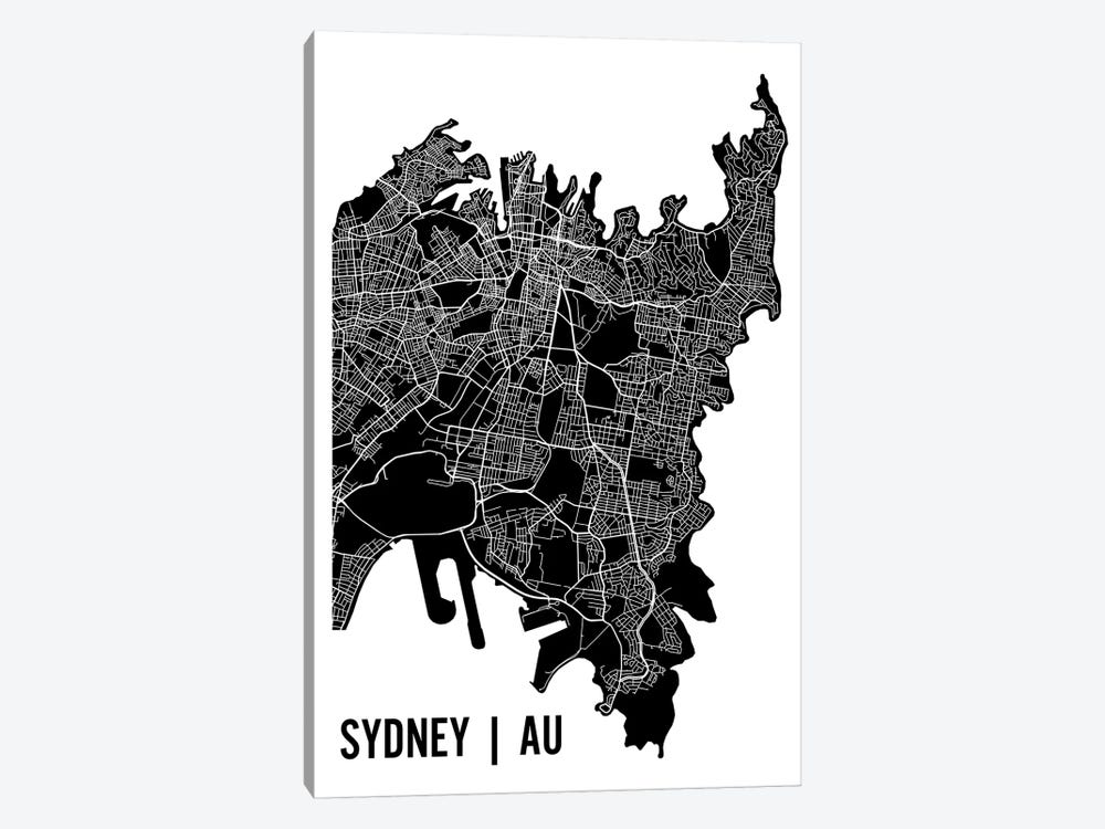 Sydney Map by Mr. City Printing 1-piece Canvas Art