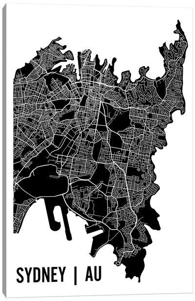 Sydney Map Canvas Art Print