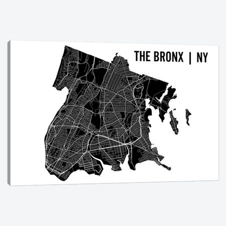 The Bronx Map Canvas Print #MCP74} by Mr. City Printing Canvas Artwork