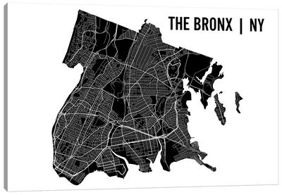The Bronx Map Canvas Art Print