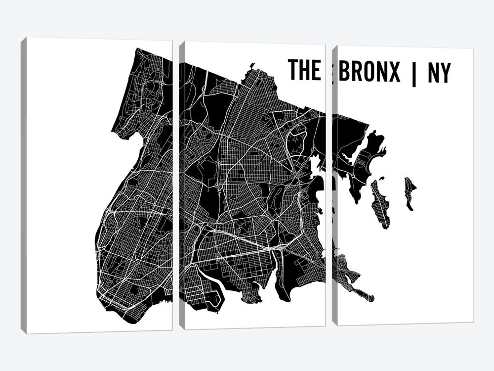 The Bronx Map by Mr. City Printing 3-piece Art Print