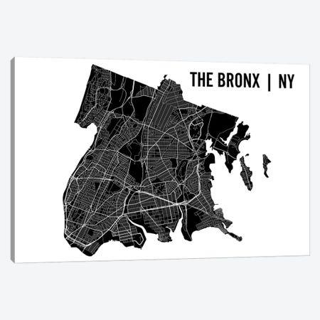 The Bronx Map Canvas Print #MCP74} by Mr. City Printing Canvas Artwork