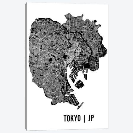 Tokyo Map Canvas Print #MCP75} by Mr. City Printing Canvas Wall Art