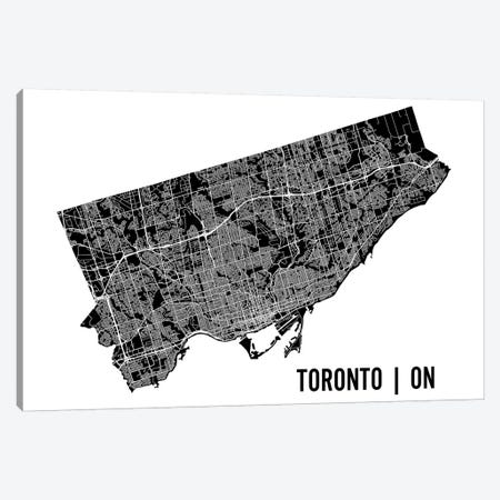 Toronto Map Canvas Print #MCP76} by Mr. City Printing Canvas Art