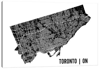 Toronto Map Canvas Art Print