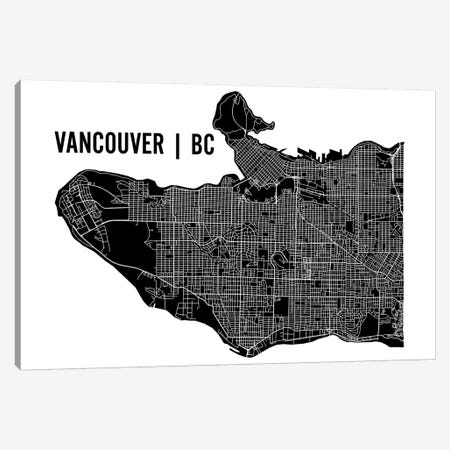 Vancouver Map Canvas Print #MCP77} by Mr. City Printing Canvas Art