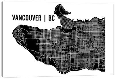 Vancouver Map Canvas Art Print