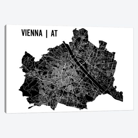 Vienna Map Canvas Print #MCP79} by Mr. City Printing Canvas Print