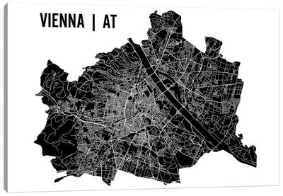 Vienna Map Canvas Art Print