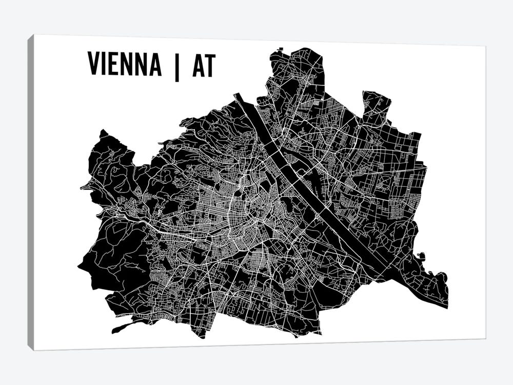 Vienna Map by Mr. City Printing 1-piece Canvas Wall Art