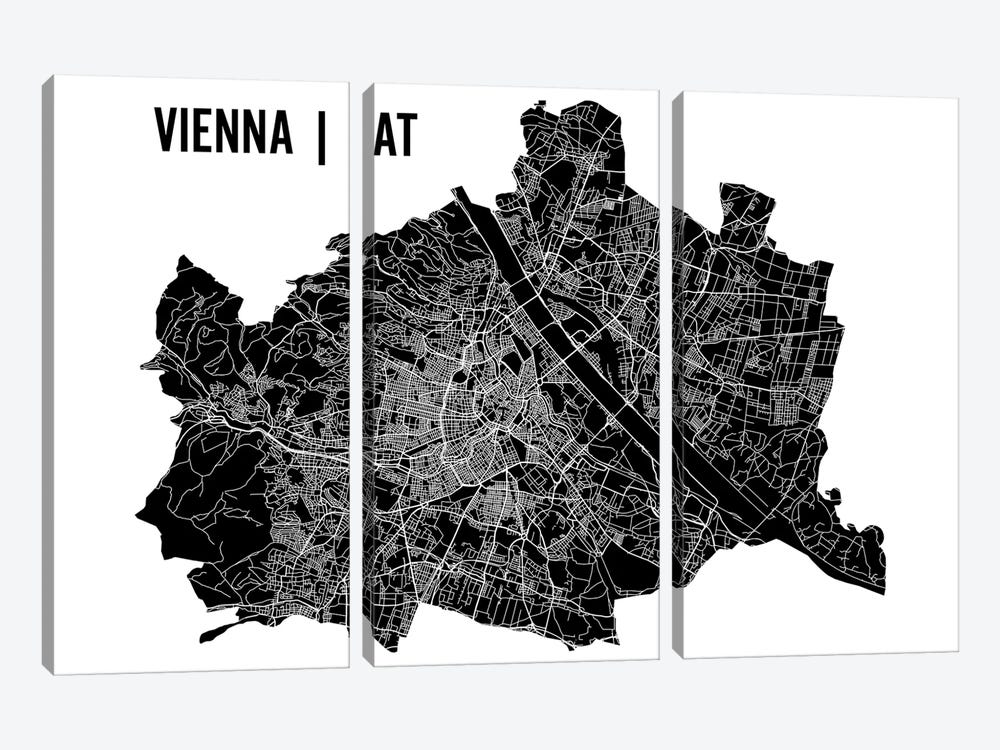 Vienna Map by Mr. City Printing 3-piece Canvas Artwork