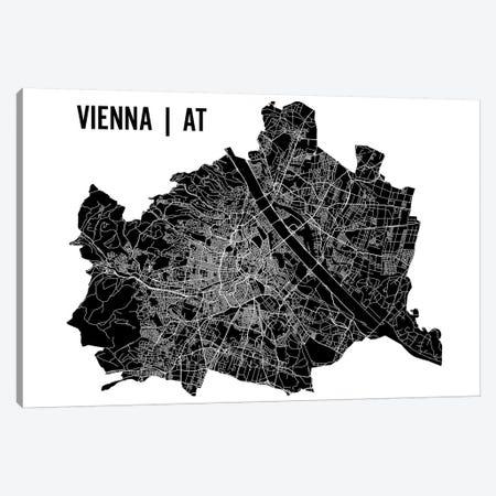 Vienna Map Canvas Print #MCP79} by Mr. City Printing Canvas Print