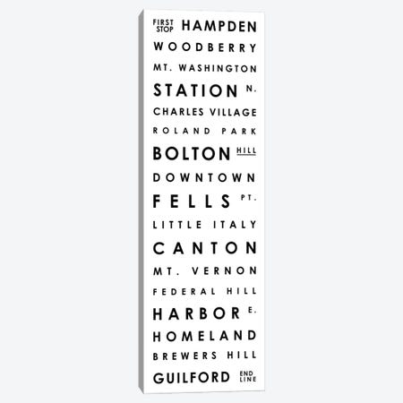 Baltimore Typographical Neighborhoods Canvas Print #MCP7} by Mr. City Printing Art Print