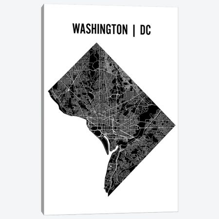 Washington D.C. Map Canvas Print #MCP80} by Mr. City Printing Canvas Artwork