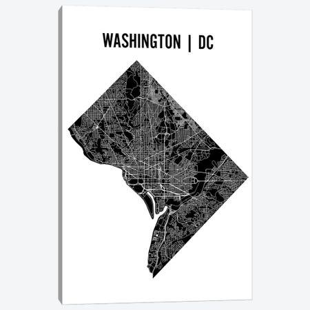 Washington D.C. Map Canvas Print #MCP80} by Mr. City Printing Canvas Artwork