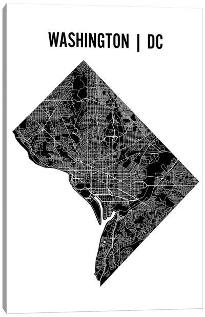 Washington D.C. Map Canvas Art Print