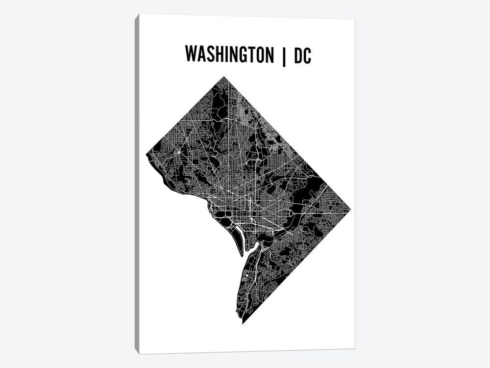 Washington D.C. Map by Mr. City Printing 1-piece Canvas Artwork
