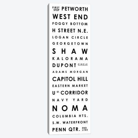 Washington D.C. Typographical Neighborhoods Canvas Print #MCP81} by Mr. City Printing Canvas Art