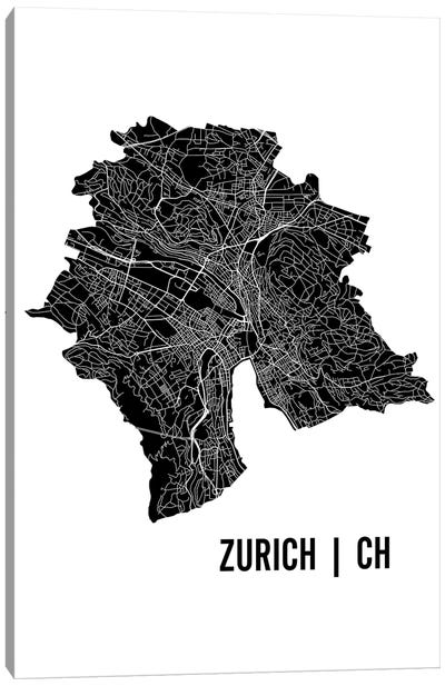 Zurich Map Canvas Art Print