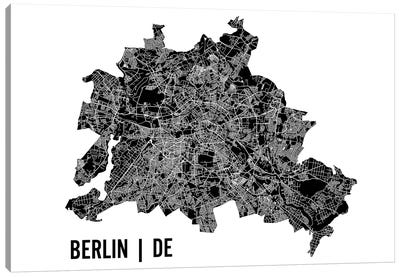 Berlin Map Canvas Art Print
