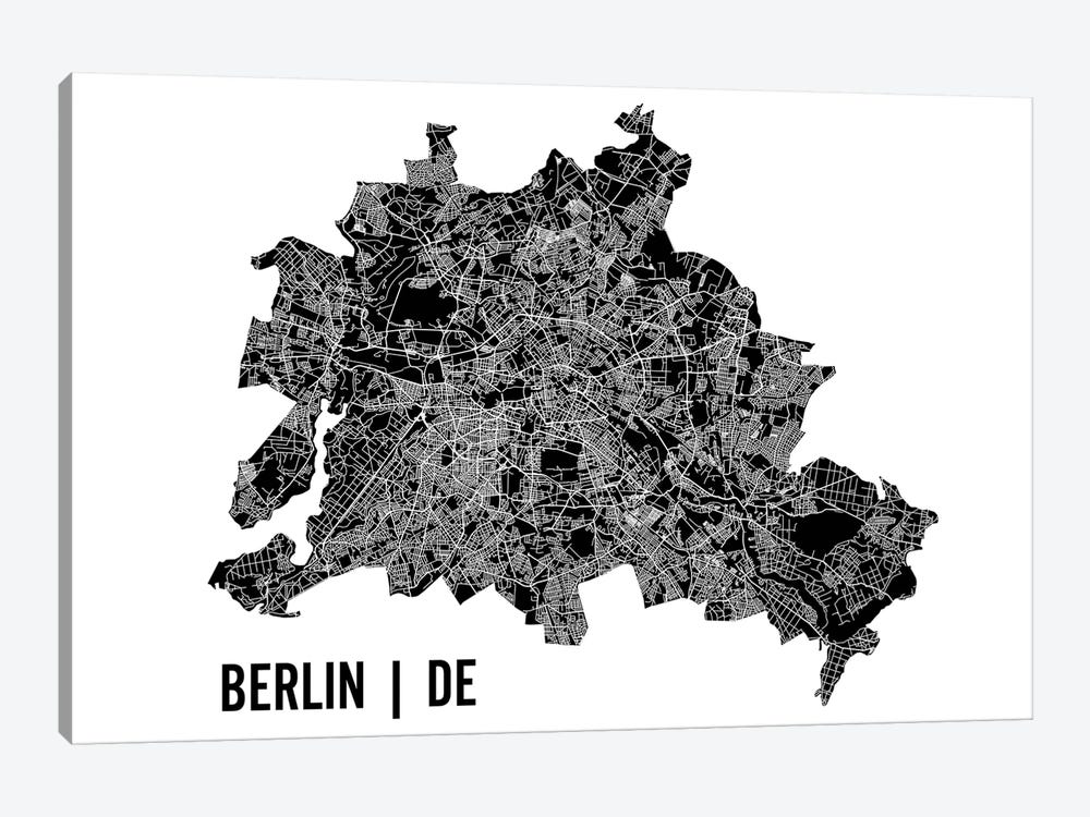 Berlin Map by Mr. City Printing 1-piece Art Print