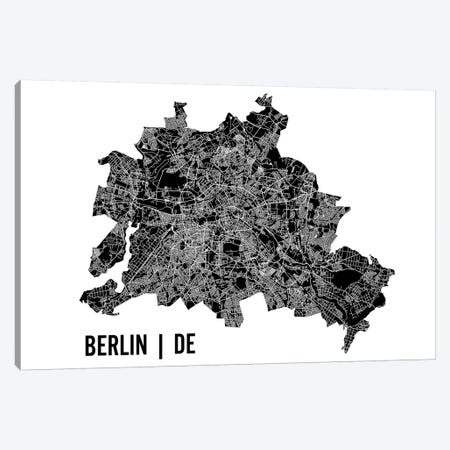 Berlin Map 3-Piece Canvas #MCP9} by Mr. City Printing Canvas Artwork