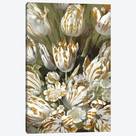 Golden Tulip Bouquet Canvas Print #MCQ13} by Angela McQueen Canvas Artwork