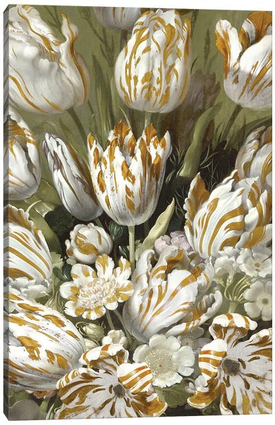 Golden Tulip Bouquet Canvas Art Print