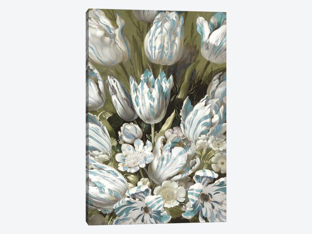 Tulip Bouquet in Aqua by Angela McQueen 1-piece Canvas Art