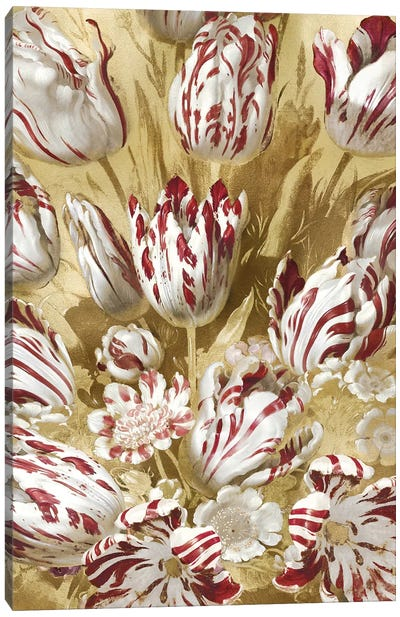 Tulip Bouquet in Red Canvas Art Print