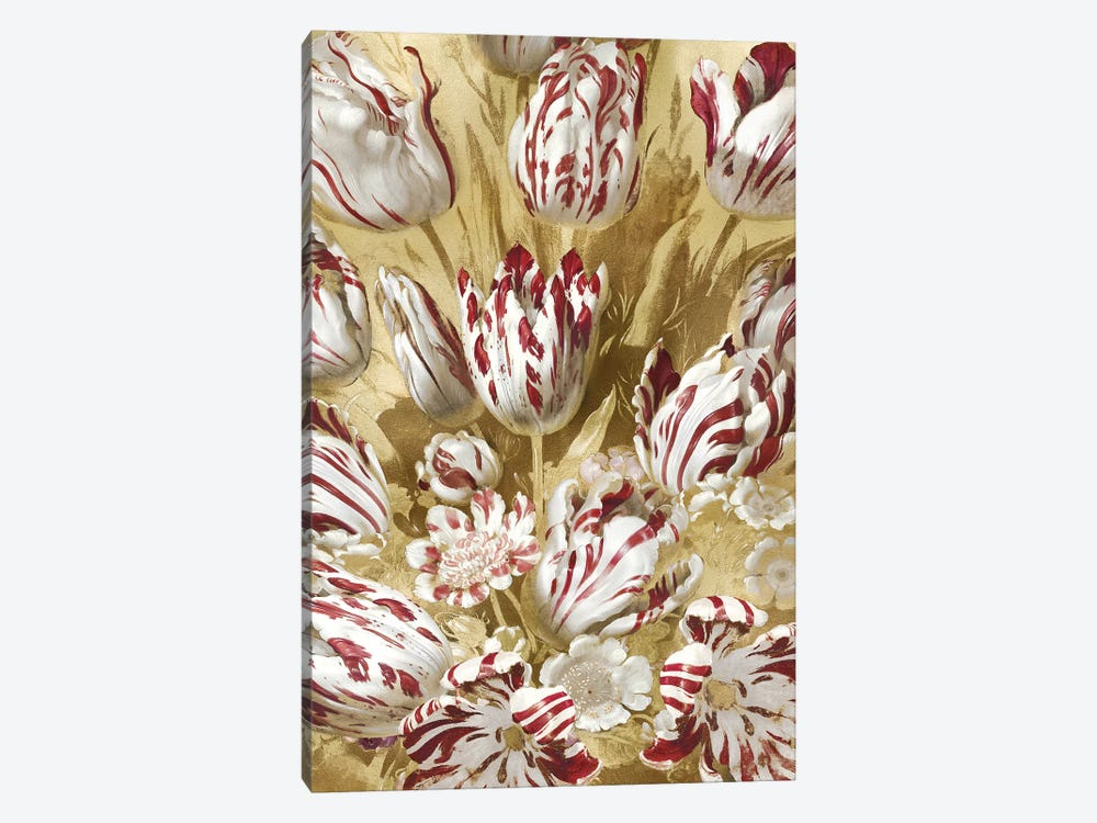 Tulip Bouquet in Red by Angela McQueen 1-piece Canvas Art Print