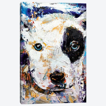 Pit Bull Puppy Canvas Print #MCR100} by Michael Creese Canvas Artwork