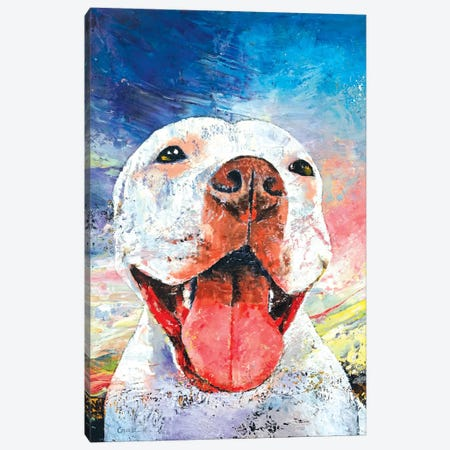 Pitbull Canvas Print #MCR102} by Michael Creese Canvas Wall Art