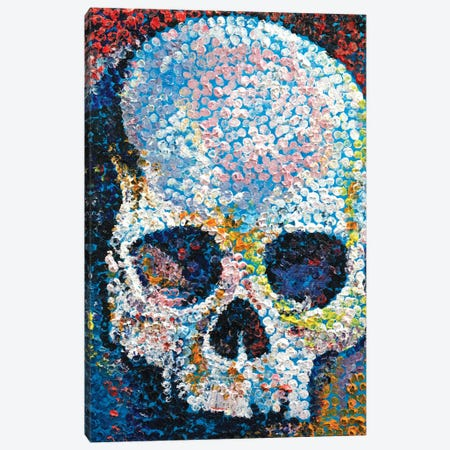 Pointillism Skull Canvas Print #MCR103} by Michael Creese Canvas Wall Art