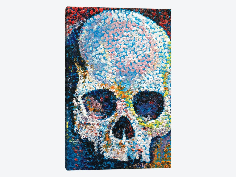 Pointillism Skull by Michael Creese 1-piece Canvas Art Print