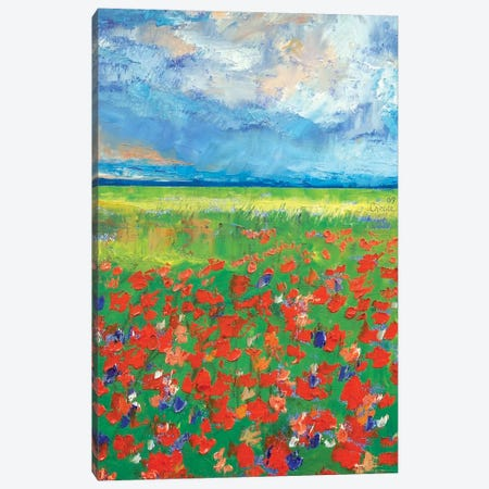 Poppy Field Canvas Print #MCR105} by Michael Creese Art Print