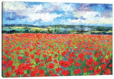 Poppy Painting Canvas Print #MCR107