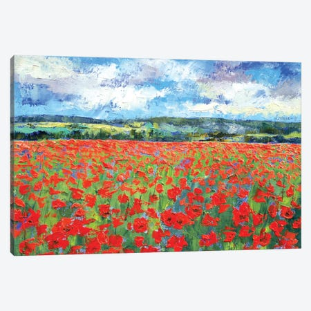 Poppy Painting Canvas Print #MCR107} by Michael Creese Canvas Print