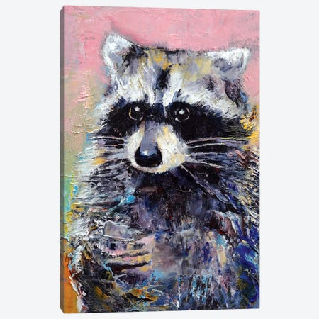 Raccoon Canvas Print #MCR109} by Michael Creese Canvas Artwork