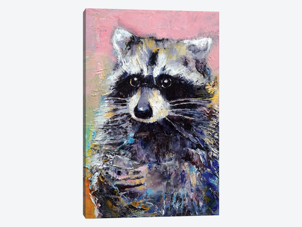 Raccoon by Michael Creese 1-piece Canvas Print