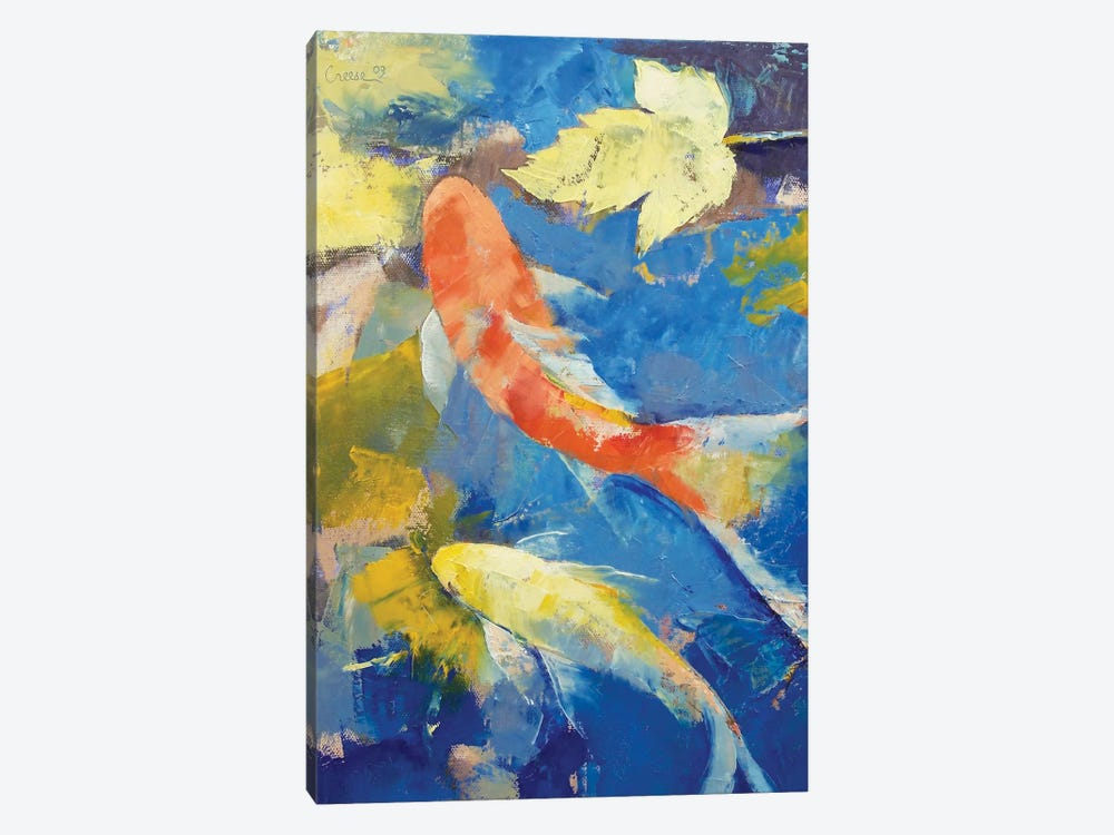 Autumn Koi Garden by Michael Creese 1-piece Canvas Artwork