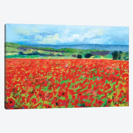 Red Oriental Poppies Canvas Print #MCR112} by Michael Creese Canvas Art Print
