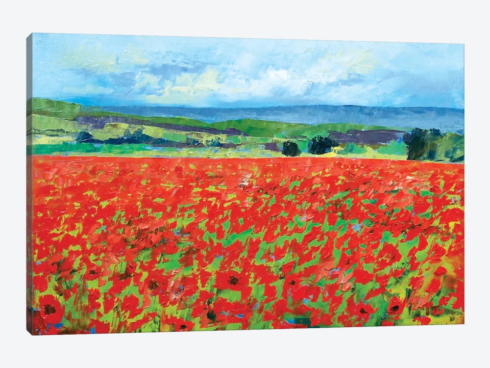 Red Oriental Poppies by Michael Creese 1-piece Art Print