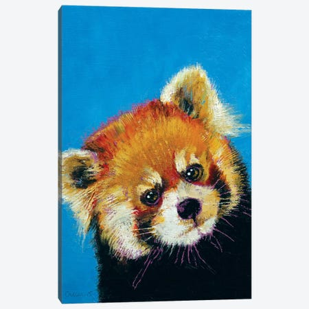 Red Panda Canvas Print #MCR113} by Michael Creese Art Print