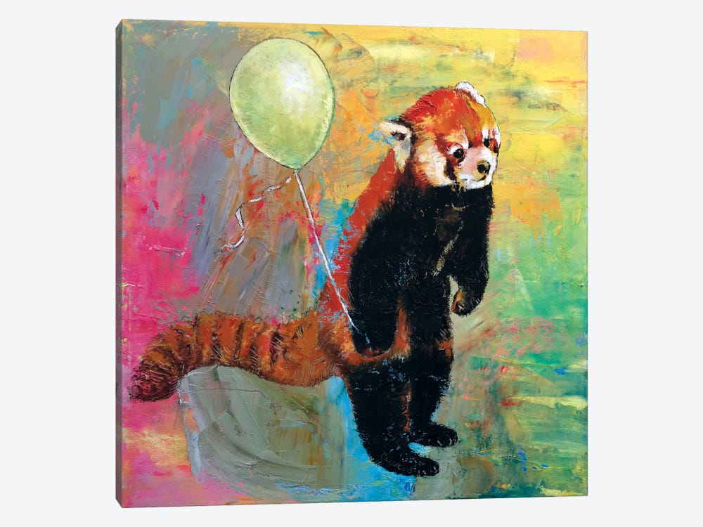 Red Panda Balloon by Michael Creese 1-piece Canvas Print