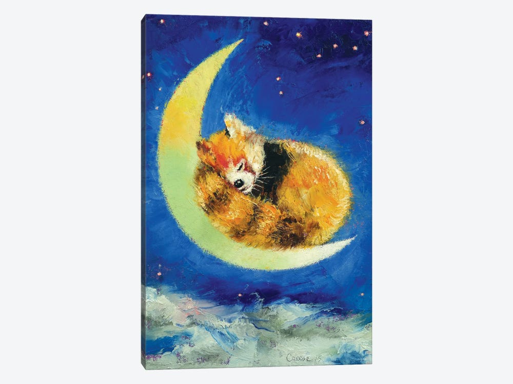 Red Panda Dreams by Michael Creese 1-piece Canvas Wall Art