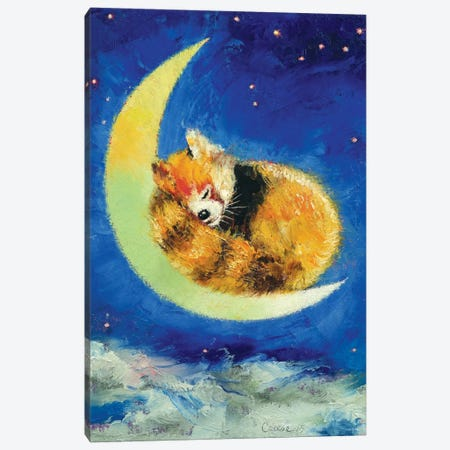 Red Panda Dreams Canvas Print #MCR115} by Michael Creese Canvas Art